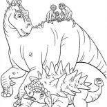 Lemur, Aladar And Lemur With Friends Dinosaur Coloring Page: Aladar and Lemur with Friends Dinosaur Coloring Page