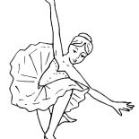 Ballerina, Amazing Ballerina Performance Coloring Page: Amazing Ballerina Performance Coloring Page