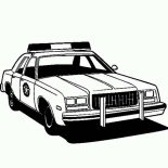 Police Car, Amazing Picture Of Police Car Coloring Page: Amazing Picture of Police Car Coloring Page