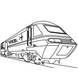 Trains, Amazing Speed Of Train Coloring Page: Amazing Speed of Train Coloring Page