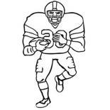 NFL, American Footbal Player In NFL Coloring Page: American Footbal Player in NFL Coloring Page
