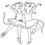 Ballerina, Angelina The Ballerina Coloring Page: Angelina the Ballerina Coloring Page