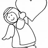 Angels, Angels Bring Love Coloring Page: Angels Bring Love Coloring Page