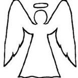 Angels, Angels Outline Coloring Page: Angels Outline Coloring Page