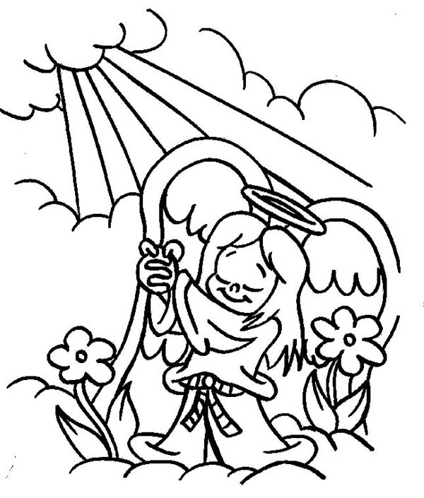 Angels Praise To The God Lord Coloring Page Color Luna