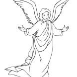 Angels, Angels Will Take Care Of Us Coloring Page: Angels Will Take Care of Us Coloring Page