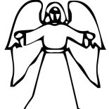 Angels, Angels Of The Lord Coloring Page: Angels of the Lord Coloring Page