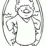 Angels, Angels With Big Nose Coloring Page: Angels with Big Nose Coloring Page