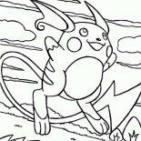 Raichu, Anime Raichu Coloring Page: Anime Raichu Coloring Page