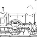Trains, Antique Locomotive Train Coloring Page: Antique Locomotive Train Coloring Page