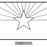State Flag, Arizona State Flag Coloring Page: Arizona State Flag Coloring Page