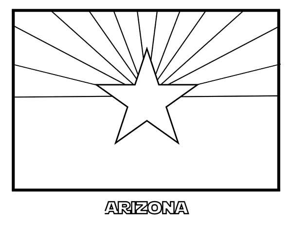 State Flag, : Arizona State Flag Coloring Page