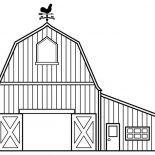 Barn, Awesome Draw Of A Barn Coloring Page: Awesome Draw of a Barn Coloring Page