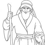 Moses, Awesome Drawing Of Moses Coloring Page: Awesome Drawing of Moses Coloring Page