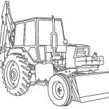 Digger, Awesome Excavator In Digger Coloring Page: Awesome Excavator in Digger Coloring Page
