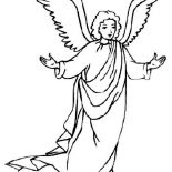 Angels, Awesome Picture Of Angels Coloring Page: Awesome Picture of Angels Coloring Page