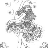 Ballerina, Awesome Picture Of Ballerina Coloring Page: Awesome Picture of Ballerina Coloring Page