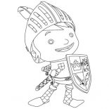 Mike the Knight, Awesome Picture Of Mike The Knight Coloring Page: Awesome Picture of Mike the Knight Coloring Page