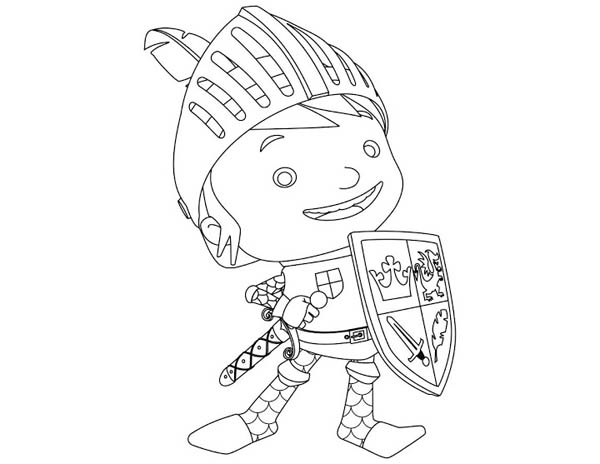 Mike the Knight, : Awesome Picture of Mike the Knight Coloring Page