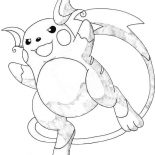 Raichu, Awesome Picture Of Raichu Coloring Page: Awesome Picture of Raichu Coloring Page