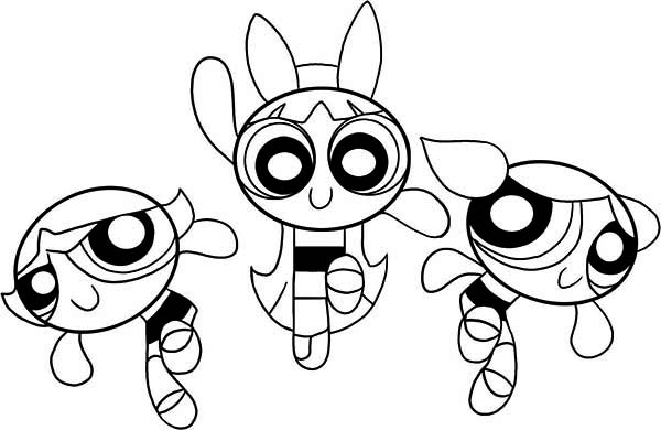 The Powerpuff Girls, : Awesome Picture of The Powerpuff Girls Coloring Page