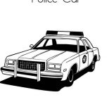 Police Car, Awesome Police Car Coloring Page: Awesome Police Car Coloring Page