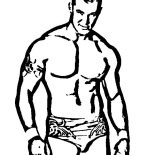 Wrestling, Awesome Wrestling Champion Coloring Page: Awesome Wrestling Champion Coloring Page