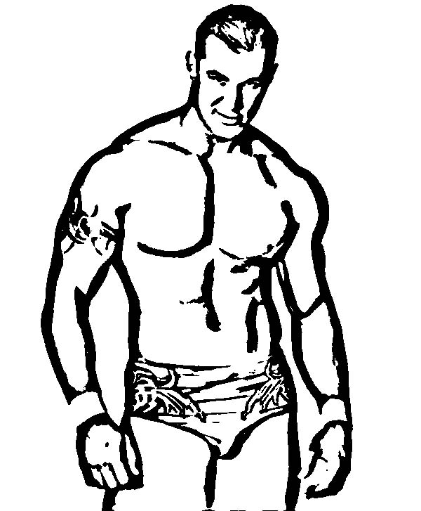 Wrestling, : Awesome Wrestling Champion Coloring Page