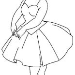 Ballerina, Ballerina Balancing On The Tips Of Toes Coloring Page: Ballerina Balancing on the Tips of Toes Coloring Page