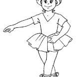 Ballerina, Ballerina Basic Position Coloring Page: Ballerina Basic Position Coloring Page