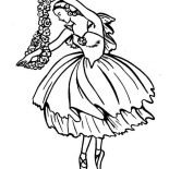 Ballerina, Ballerina Doing Classic Ballet Dance Coloring Page: Ballerina Doing Classic Ballet Dance Coloring Page