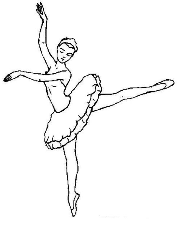 Ballerina Practicing Ballet Coloring Page Color Luna