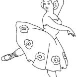 Ballerina, Ballerina Teacher Coloring Page: Ballerina Teacher Coloring Page