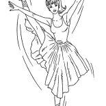 Ballerina, Barbie Ballerina Coloring Page: Barbie Ballerina Coloring Page
