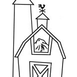 Barn, Barn Full Of Rice Straw Coloring Page: Barn Full of Rice Straw Coloring Page