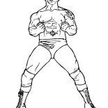 Wrestling, Batista From World Wrestling Entertainment  Coloring Page: Batista from World Wrestling Entertainment  Coloring Page
