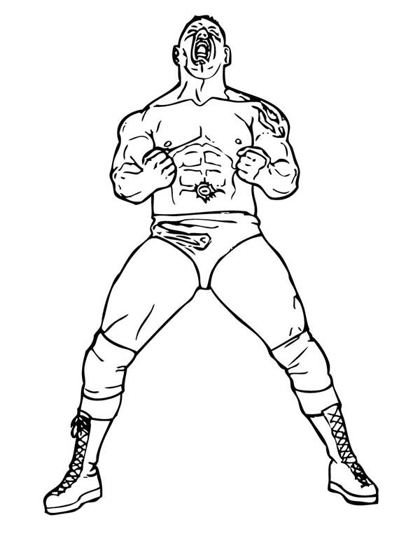 bethesta the wrestler coloring pages - photo#35