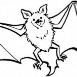 Bats, Bats Flying Coloring Page: Bats Flying Coloring Page