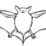 Bats, Bats Picture Coloring Page: Bats Picture Coloring Page