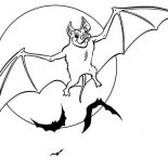 Bats, Bats Spreading His Wing Coloring Page: Bats Spreading His Wing Coloring Page