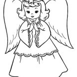 Angels, Beautiful Angels Coloring Page: Beautiful Angels Coloring Page