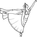 Ballerina, Beautiful Art Of Ballet From Ballerina Coloring Page: Beautiful Art of Ballet from Ballerina Coloring Page