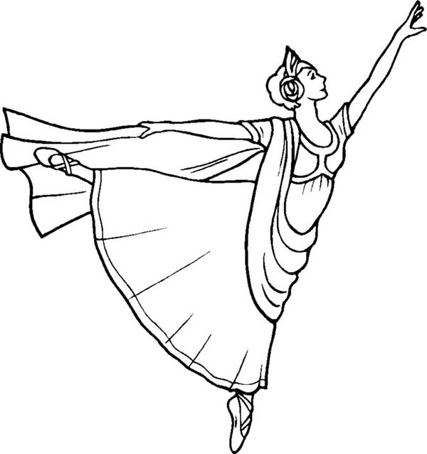 Ballerina, : Beautiful Art of Ballet from Ballerina Coloring Page