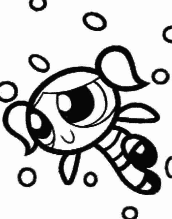 The Powerpuff Girls, : Beautiful Bubbles from The Powerpuff Girls Coloring Page