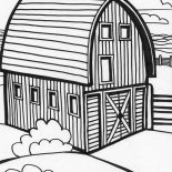 Barn, Beautiful Picture Of Farming Barn Coloring Page: Beautiful Picture of Farming Barn Coloring Page