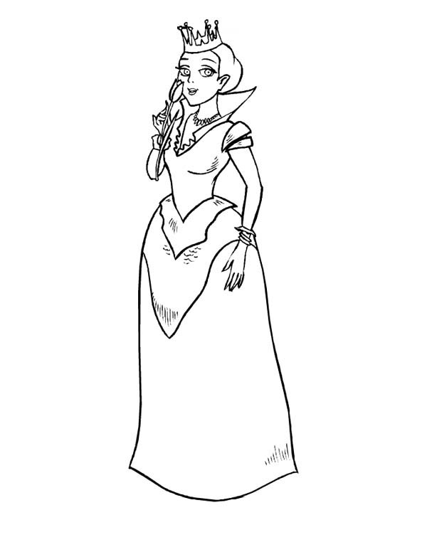 Middle Ages, : Beautiful Princess in Middle Ages Coloring Page