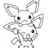 Pichu, Bothered Pichu Coloring Page: Bothered Pichu Coloring Page