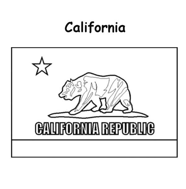 State Flag, : California State Flag Coloring Page