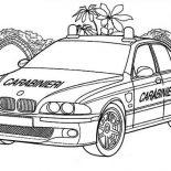 Police Car, Carabinieri Police Car Coloring Page: Carabinieri Police Car Coloring Page