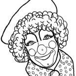 Clown, Carnie The Clown Coloring Page: Carnie the Clown Coloring Page